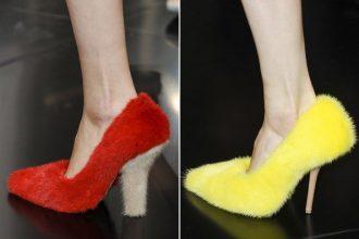 scarpe in pelliccia celine