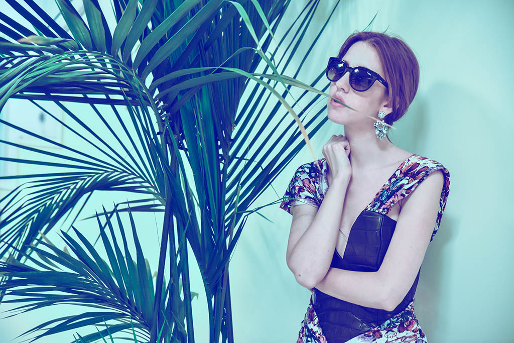 vogue occhiali da sole lady fur