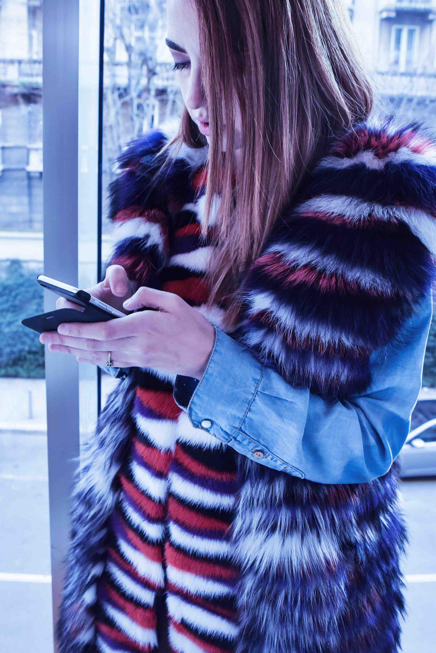 new york fashion week 2015 pelliccia di visone vladimiro gioia