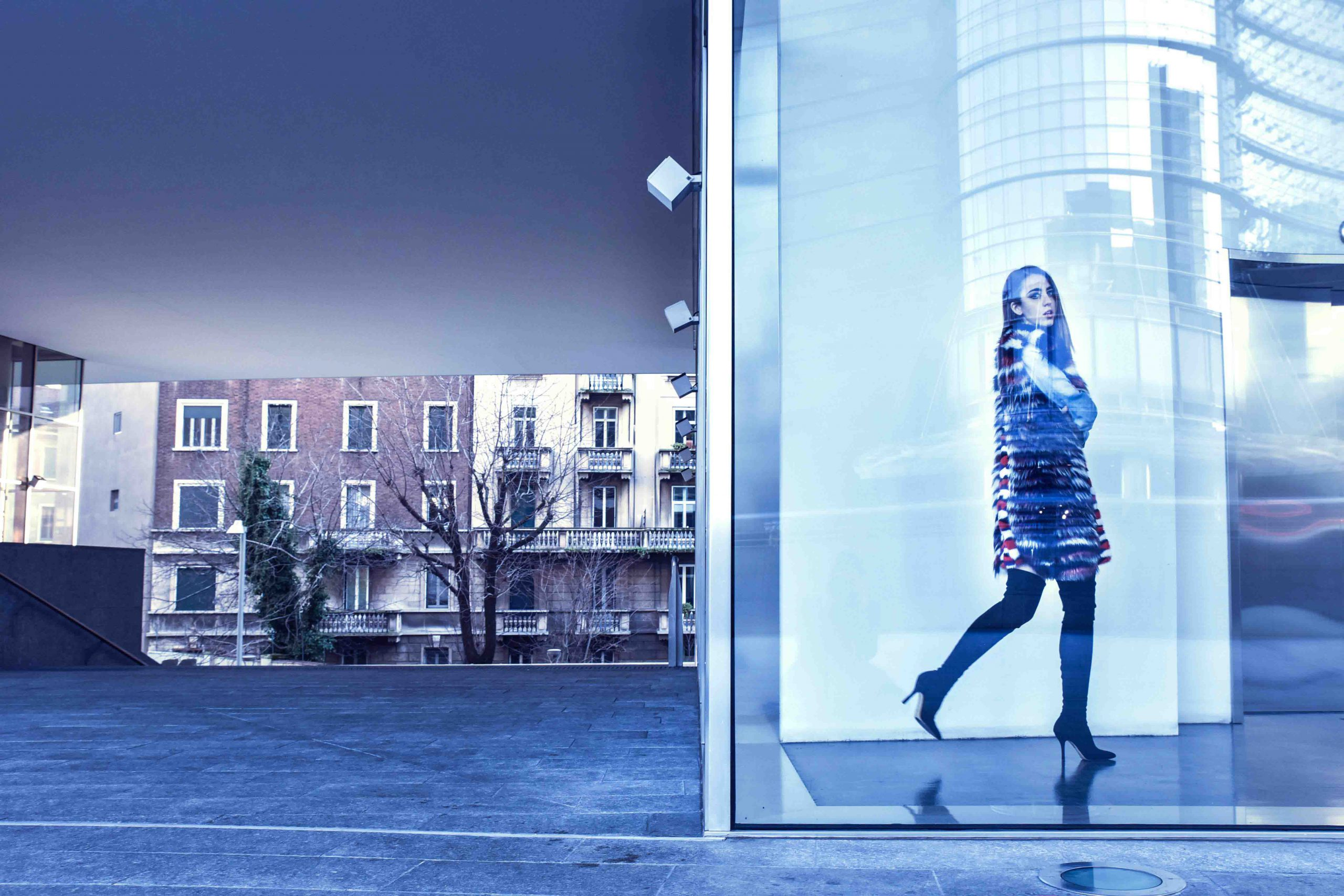 new york fashion week 2015 pelliccia di visone vladimiro lady fur gioia