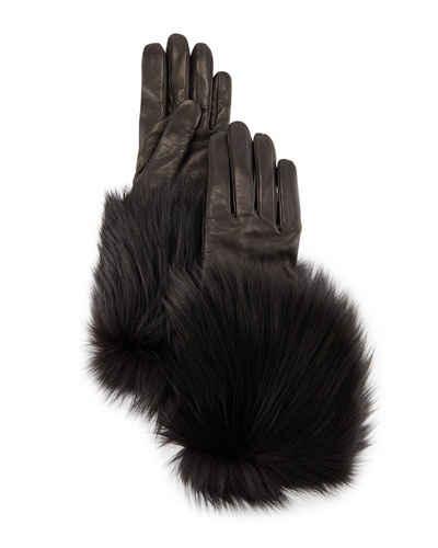 guanti di pelle Bergdorf Goodman