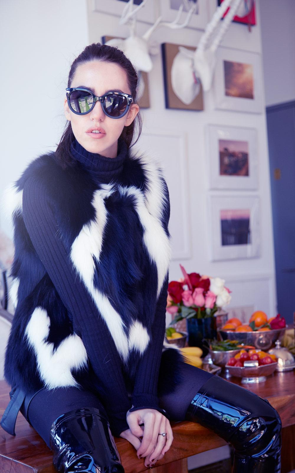 gilet di volpe lady fur