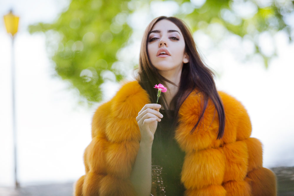 lady fur samantha de reviziis rosa arancione