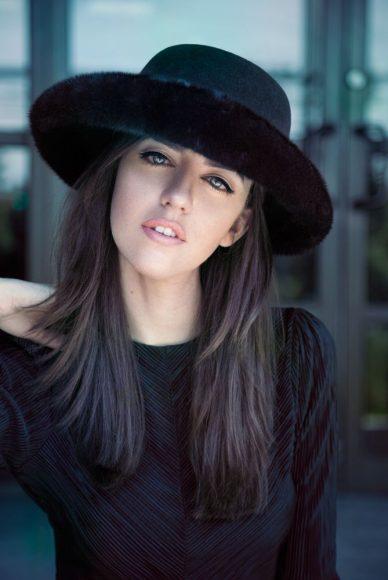 cappello vintage con pellicce lady fur