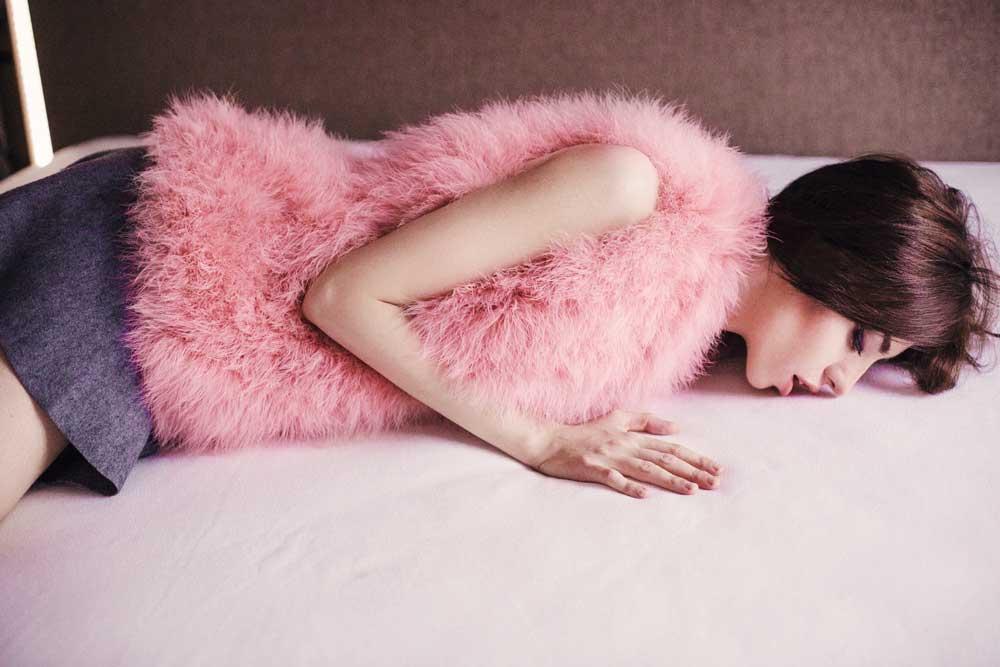 pelliccia rosa smanicato