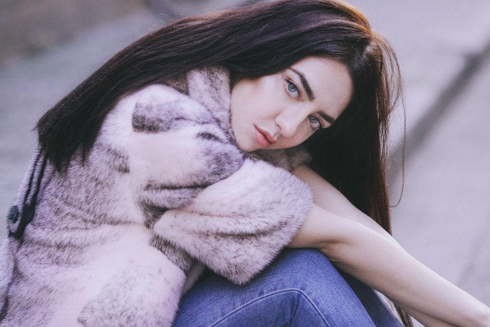 pelliccia colorata economica