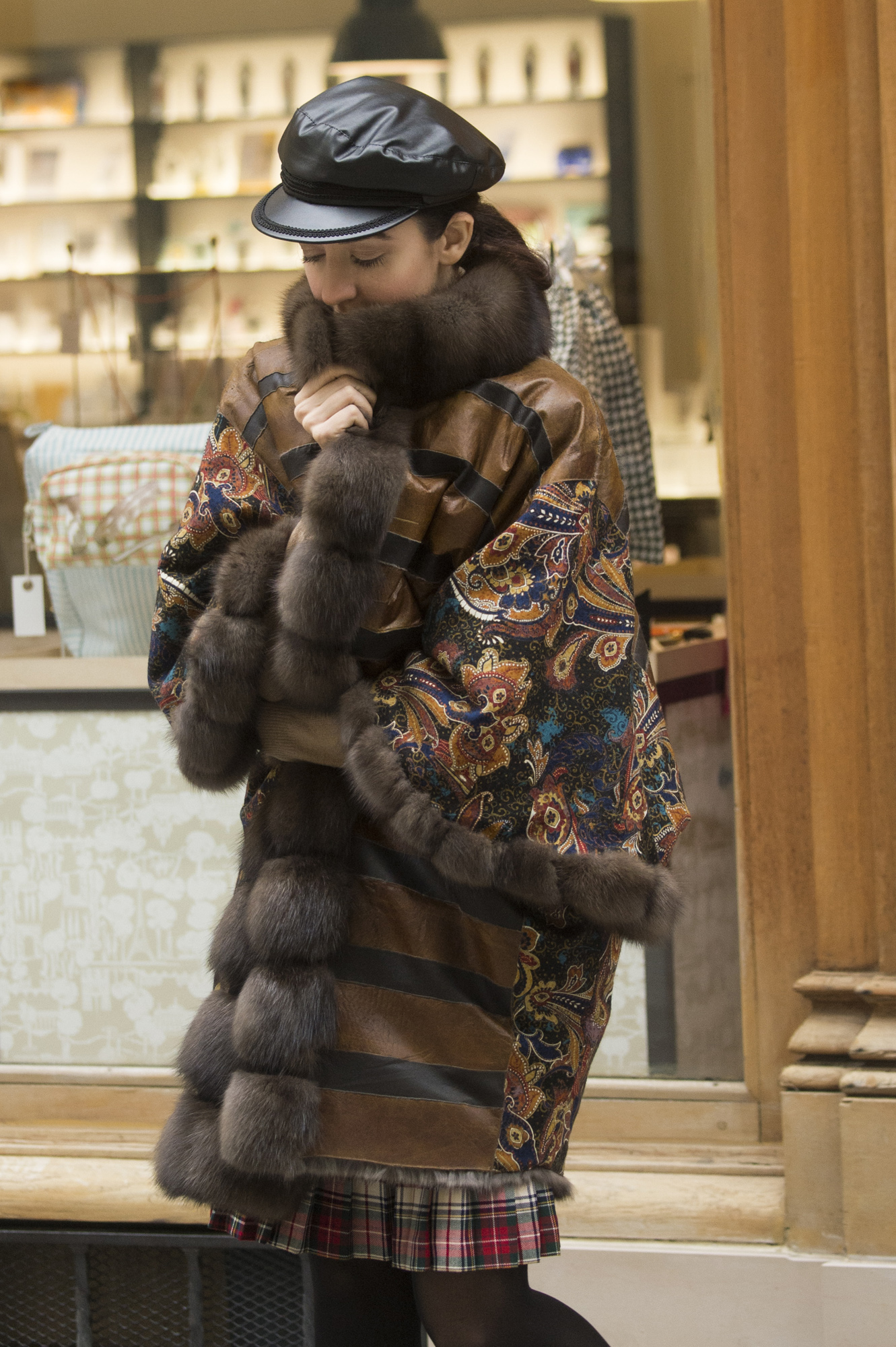lady fur pelliccia a parigi