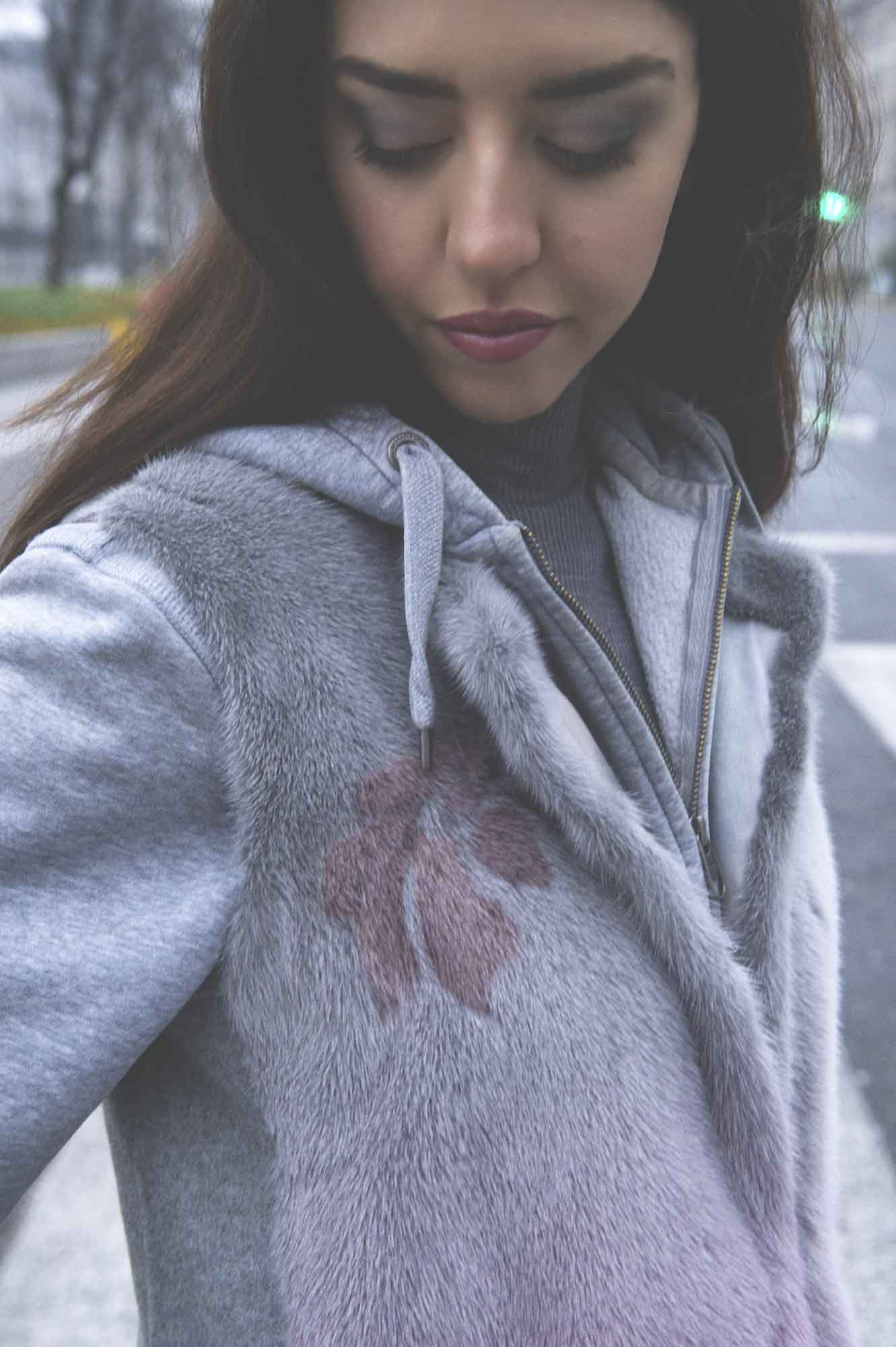 pelliccia visone lady fur