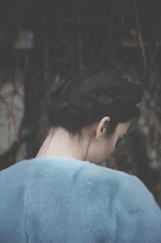 pelliccia azzurra