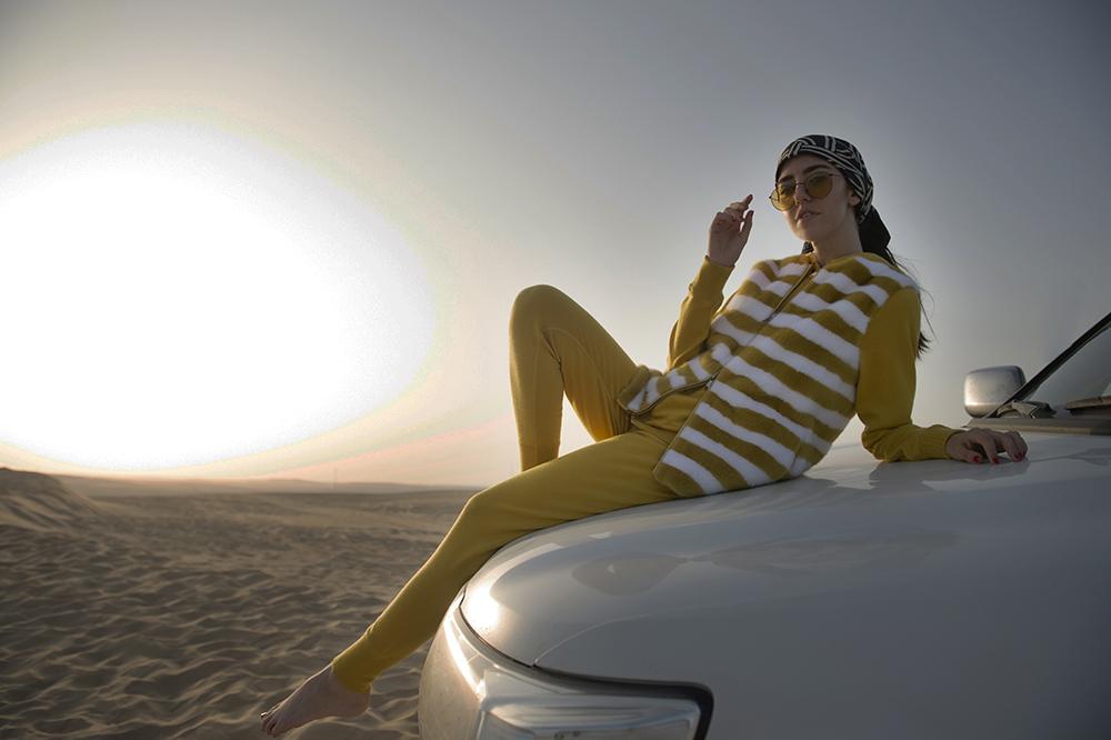 pelliccia di visone manzoni 24 deserto qatar doha